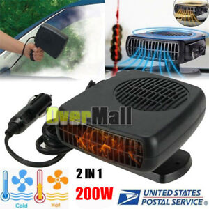 200w 12v Car Truck Auto Heater Hot Cool Fan Windscreen Window Demister Defroster