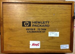 Agilent Hp 85036b 75 Ohm N type Male Female Coaxial Calibration Kit