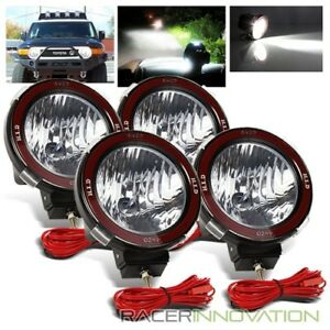 4 X 7 Hi Power 55w Xenon Hid Off Road Atv Tractor Boat Round Flood Beam Lights