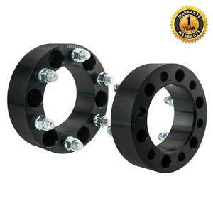 2pc 2 0 Inch 6x5 5 To 6x5 5 For Chevy Gmc Black Wheel Spacers 14x1 5 Studs