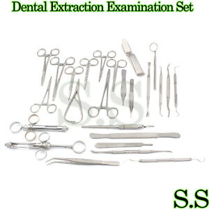 Dental Extraction Examination Surgical Instruments Set Of 25