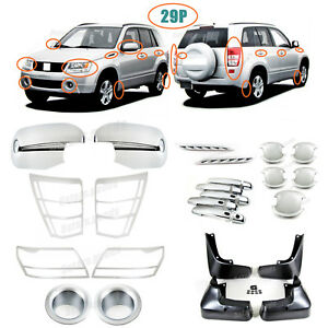 Accessories Chrome Smart Molding Covers Trims For 2006 2008 Suzuki Grand Vitara