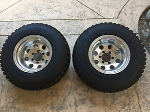 31x10 50x15 Goodyear Mud Terrain Tires Toyota Chevy Prime Wheels Pro Comp Pair