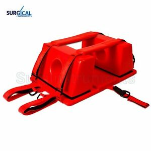 Emergency Spine Board Reusable Head Immobilizer For Ems emt Red Color