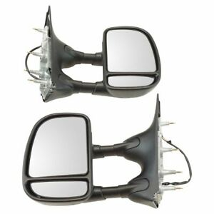 Towing Mirror Power Textured Black Driver Side Left Lh For Ford Econoline Van