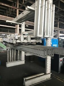 Heavy Duty Cantilever Racking 7 Sections Of Racking