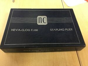 Vintage Neva clog F 100 Stapler Plier Stapler New Old Stock In Box