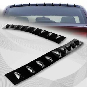 For 2006 2011 Honda Civic 4dr Black Shark Fin Rear Roof Vortex Spoiler Wing