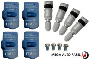 4 X New Itm Tire Pressure Sensor 433mhz Tpms For Mercedes Benz Sls 11 15