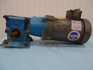 Baldor Vm3538 Electric Motor 5hp 3ph 1725rpm Fr 56c W morse Reducer 5 1 Ratio