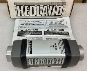 Hedland H671a 100 Inline Pneumatic Flow Meter 1 2 Npt 100 Scfm Air New In Box