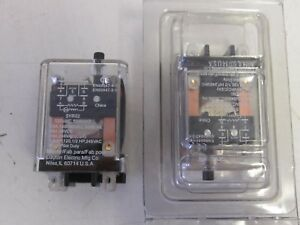 Lot Of 2 Dpdt 8 Pins 15 Amp 120 Vac Plug In Relays New