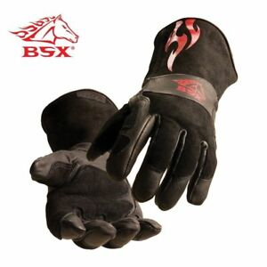 Black Stallion Bsx Bs50 Premium Grain Kidskin Stick Mig Welding Gloves Medium