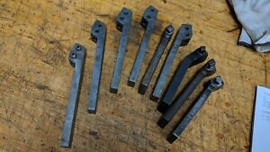 9 Assorted Metal Lathe Lantern Tool Post Bit Holders Armstrong Jh Williams Set5