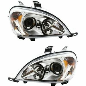 Halogen Headlight Set For 2002 2005 Mercedes Benz Ml500 Left Right W Bulb Pair