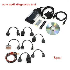 Bluetooth Tcs Cdp Pro Plus For Autocom Obd2 Diagnostic Tool 8pcs Car Cables Ga
