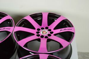 17 Pink Rims Tires Wheels Beetle Civic Soul Fusion Elantra Corolla 5x100 5x114 3