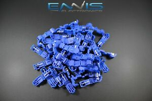 500 Pcs 14 16 Gauge T tap Blue Crimp Terminal Awg Wire Splice Connector Btt