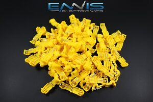 500 Pcs 10 12 Gauge T tap Yellow Crimp Terminal Awg Wire Splice Connector Ytt