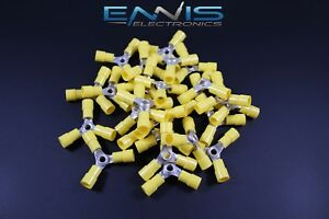 200 Pcs 10 12 Gauge 3 Way Ring Butt Crimp Connector Awg Junction Wire Yvbc3