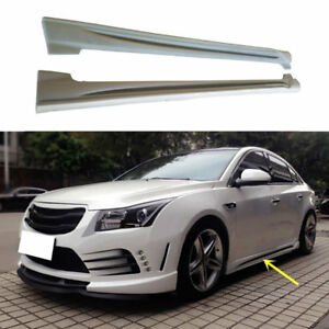 Abs Plastic Side Skirt Car Refit Snap Type For Chevrolet Cruze 2011 2014