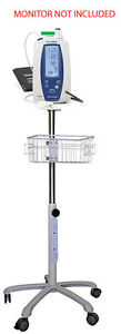 Rolling Stand For Welch allyn Spot 420 Vital Sign Monitor New small Wheel