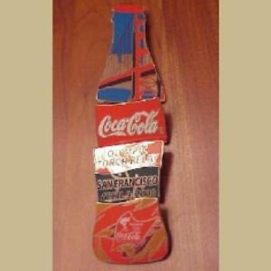 BEIJING OLYMPICS COCA COLA TORCH RELAY 5 PIN BOTTLE PUZZLE SAN FRANCISCO NEW