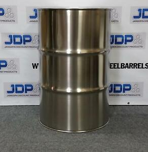 55 Gallon Stainless Steel Barrel Drum Closed Top 1 2mm Thick New