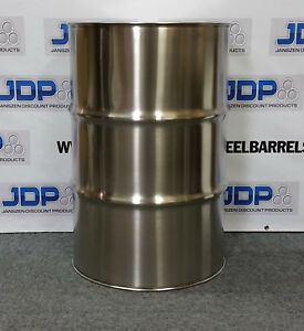55 Gallon Stainless Steel Barrel Drum Closed Top 1 2mm Thick New 8 Pack