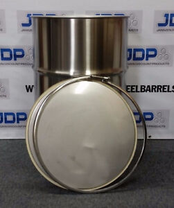 16 Pack 55 Gallon Stainless Steel Barrel Drum Open Top 1mm New 379 Per
