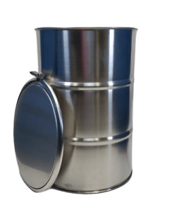 6 Pack New 30 Gallon Stainless Steel Barrels Drums Open Top