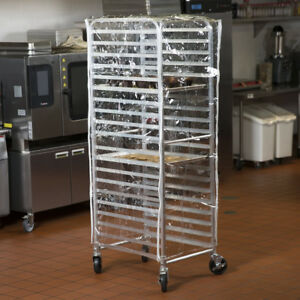 Set Of 4 63 Clear 14 Mil Plastic Restaurant Bakery Full Size Bun Pan Rack Cover
