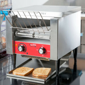 Commercial Conveyor Adjustable Type Electric Oven Bread Toaster 3 Opening New