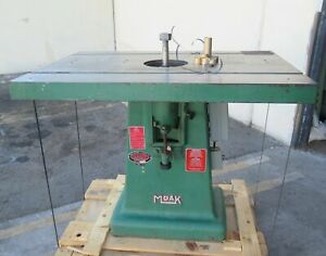 Moak Machine Woodworking Shaper 7 5hp Baldor Motor Single Spindle