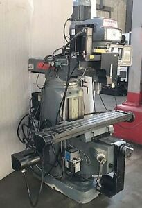 Clausing Kondia Fv 1 Bridgeport Style 3 axis Cnc Mill With Swi Mx 1 Trak Control