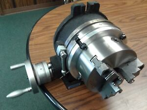 8 Horizontal Vertical Rotary Table W Adapter 6 3 jaw Chuck in tsl8 c6