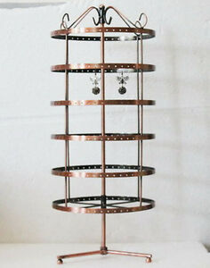 New Fashion 288 Holes Rotating Earrings Display Stand Rack Holder