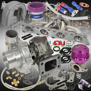 1 8t Manifold Turbo Wg Velocity Stack Heat Cover Oil Line Kit Boost Purple