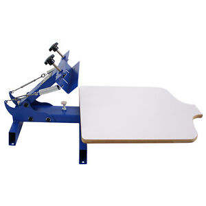 Simple Single 1 Color 1 Station T shirt Silk Screen Printing Machine Ns101
