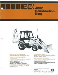 Equipment Brochure Case 480c Construction King Loader Backhoe C1979 e4124