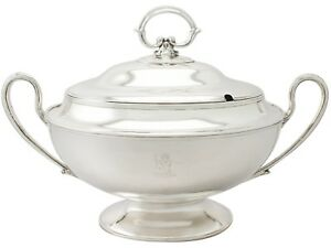 Sterling Silver Soup Tureen By J Sherwood Sons Antique Edwardian