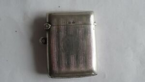 Antique 1835 English Sterling Silver Engraved Match Vesta Case