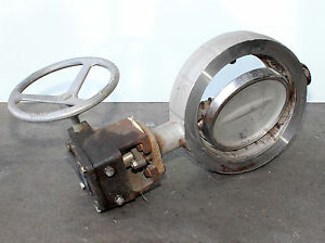 Used 8 150 Flowseal Butterfly Valve Cf8m Stainless Steel Body Disc used