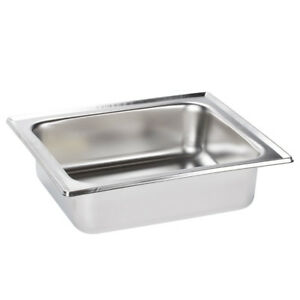 Set Of 6 Half Size Stainless Steel 4 Qt Chafing Dishes Chafer Steam Table Pans