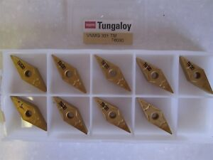 Lot Of 9 Tungaloy Carbide Inserts Style Vnmg Size 331 tm Grade T6030 New
