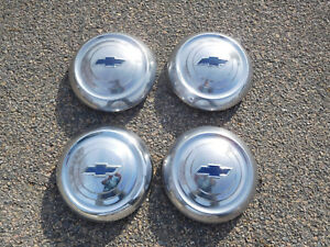 1951 1952 Chevrolet Dog Dish Bowtie Poverty Hubcaps
