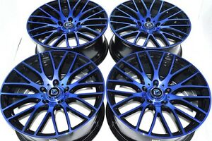 17 Blue Wheels Rims Tires Prius Matrix Im Forte Tiburon Prelude Cl Civic 5x114 3