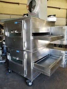 Lincoln Impinger 1400 Series Gas Double Stack Pizza Conveyor Ovens