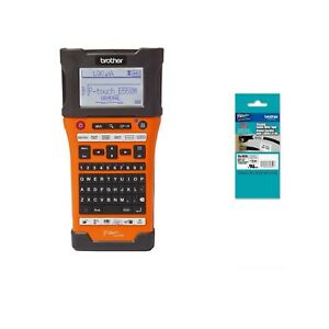 Brother Wireless Industrial Handheld P touch Label Maker Id Tape Bundle