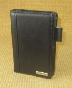 Pocket 5 Rings Black Leather Franklin Covey Open Planner binder W Tab